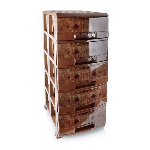 دراور لارج بی ال طرح چوب ۵ طبقه هوم کت