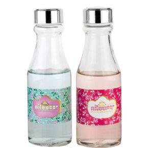 بطری آب کوچک بیبی گلدار نیلوفر