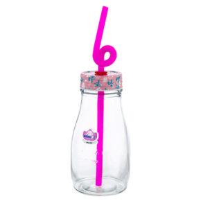 بطری آب کوچک نی نی ۱ ساده (نی دار) نیلوفر