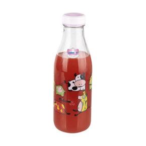 بطری شیر گرد گلدار نیلوفر