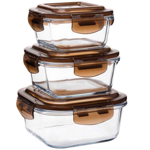 ظروف نگهدارنده نسوز سه سایز مربع والری