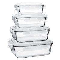 ظروف نگهدارنده نسوز چهار سایز مستطیل والری
