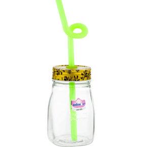 بطری آب کوچک نی نی ۲ ساده (نی دار) نیلوفر
