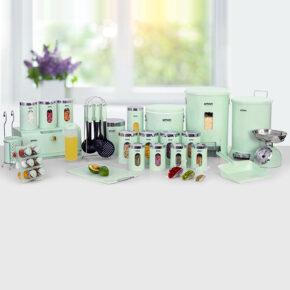 سرویس آشپزخانه گرد ۳۷ پارچه درب شفاف لیمون