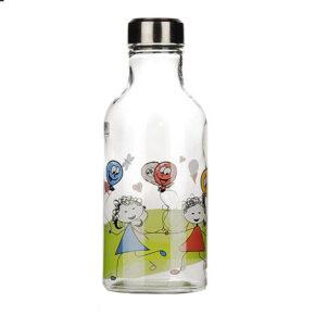 بطری شیر بیضی استیل طرح کودک زیبا