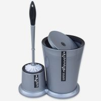 ست سطل و توالت شور گرد تک پلاستیک
