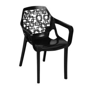 صندلی آتیلا دسته دار نقش اسپیرال مربع هوم کت