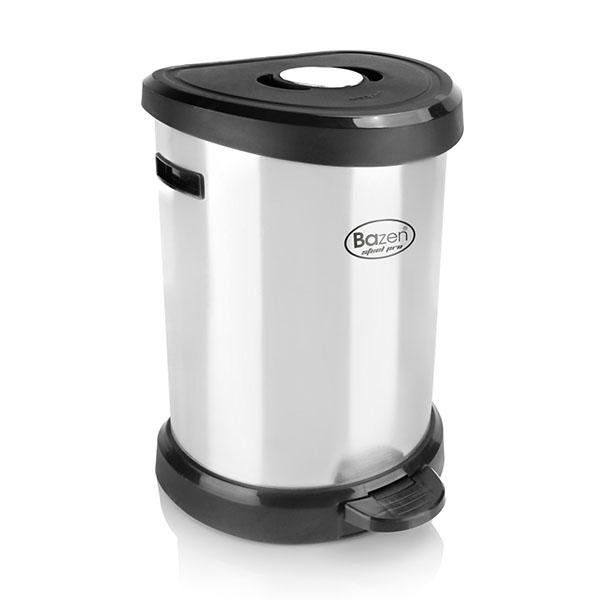 سطل پدالی ۱۴ لیتری استیل پرو بازن پلاستیک