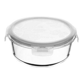 ظرف شیشه ای آنتی شوک (گرد) ۱lit هوم کت
