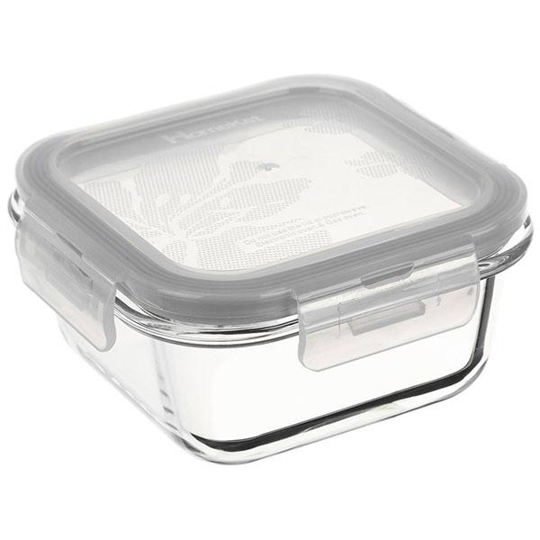 ظرف شیشه ای آنتی شوک (مربع) ۳۰۰ml هوم کت