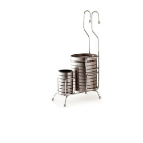 جاقاشقی دوقلوی آویز استیل پرو بازن پلاستیک