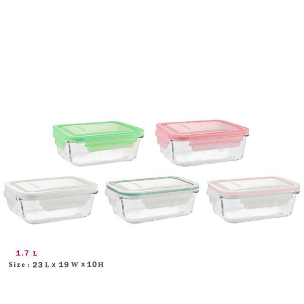 ظرف شیشه ای مستطیل ۱/۷ لیتر لیمون