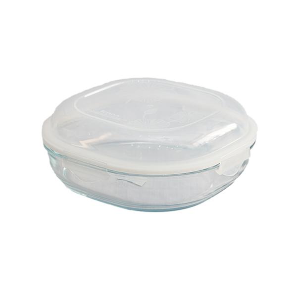 ظرف شیشه ای سرو و نگهداری دربدار ۲.۷۵۰ لیتر لیمون